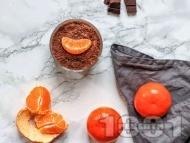 Рецепта Веган шоколадов мус със сладък картоф, кленов сироп и портокалова кора